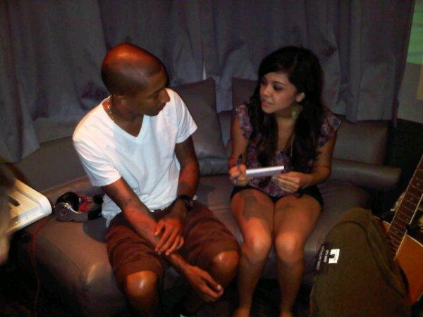 Pharrell & Alyssa Bernal - Studio - 3 Août 2011