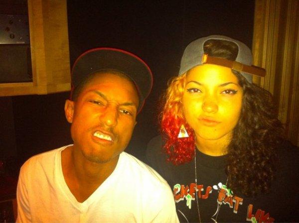 Pharrell en studio avec Maxine Ashley - 11-12 août 2011