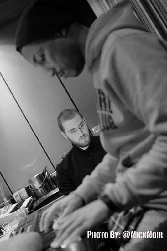 Pharrell en studio avec Mike Posner - Janvier 2012