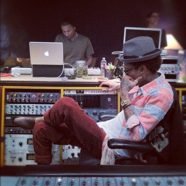 Pharrell en studio - 25 Janvier 2012