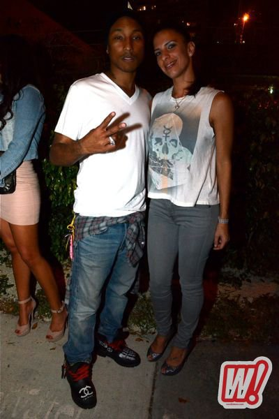 Pharrell & Shae - Concert de Cris Cab (sortie d'Echo Boom) - Miami, FL - 2 février 2012