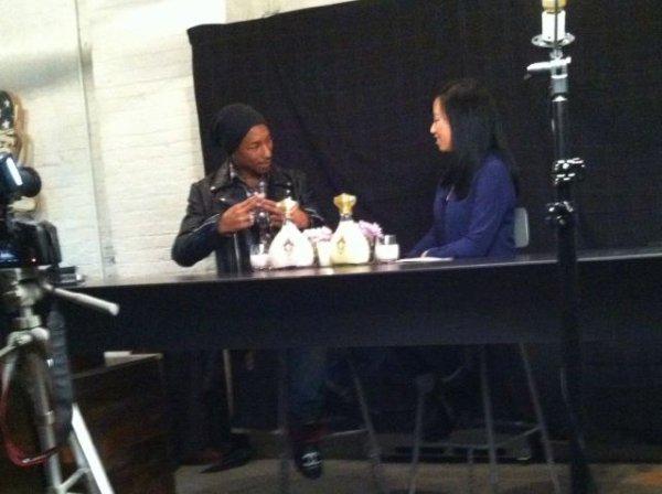 Pharrell - Yuna @ Converse Rubber Tracks Recording Studio - 8 février 2012