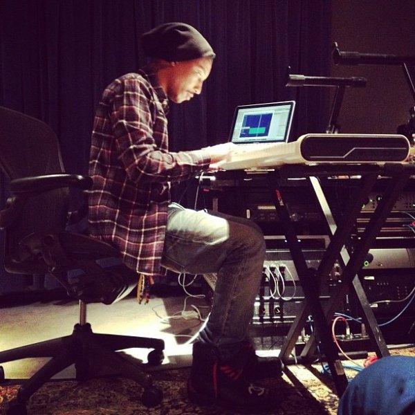 Pharrell en studio - 20 février 2012