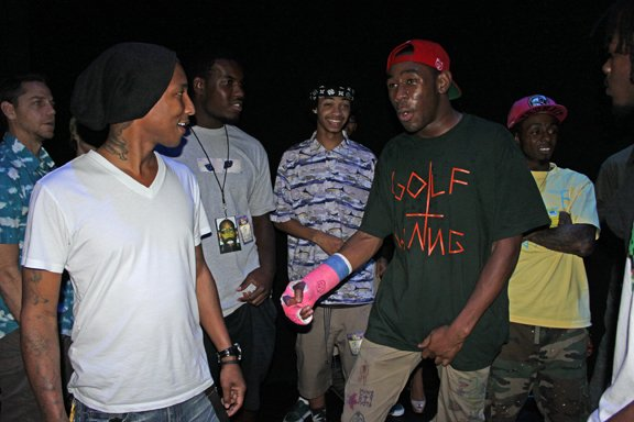 Pharrell au concert d'Odd Future - Miami, FL - 17 mars 2012