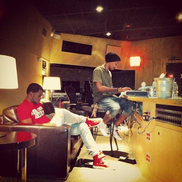 Pharrell en studio - Juin 2012