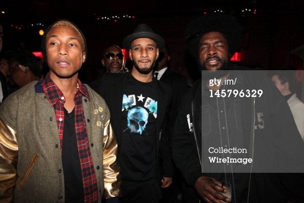 """Pharrell """"An Evening with Gary Clark Jr. at Darby Downstairs"""" - New York - 5 juin 2012"""