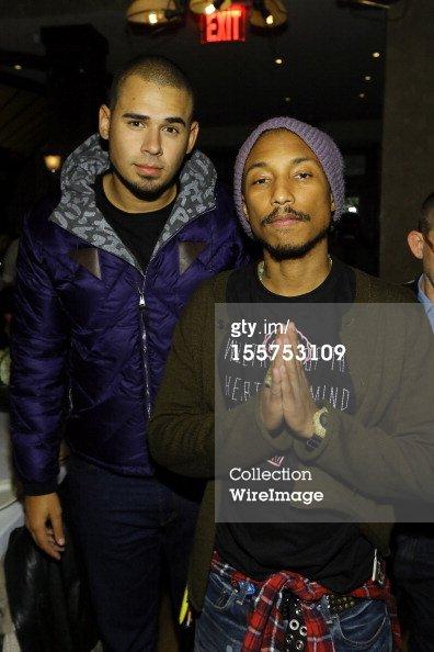 """Pharrell - soirée célébrant la sortie de """"Places and Spaces I've Been"""" - New York - 7 novembre 2012"""