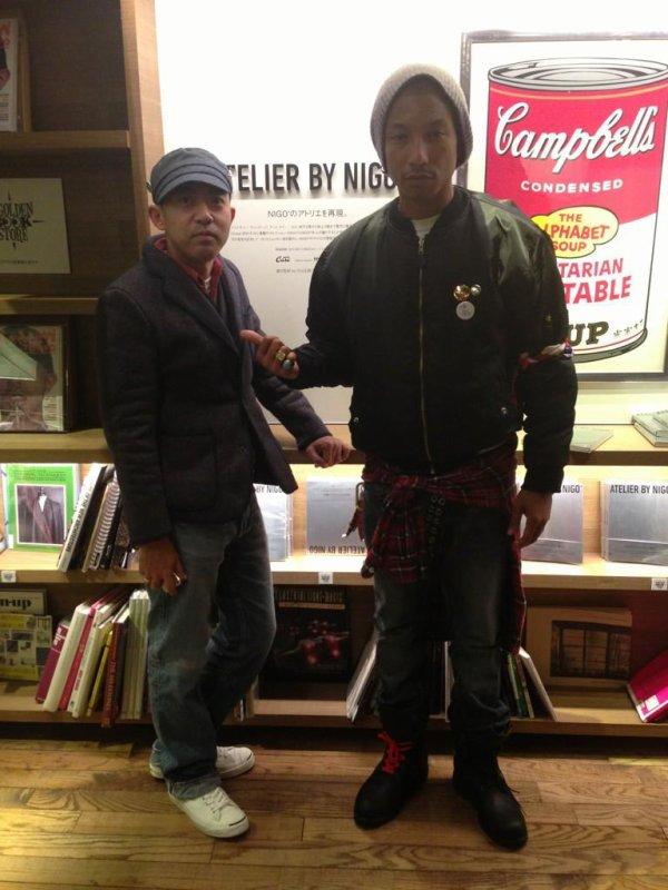 Pharrell à Tokyo - 29 novembre au 1er décembre 2012