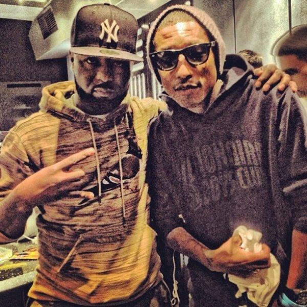 Pharrell en studio avec Cash Out - Circle House Studio, Miami - 12 janvier 2013