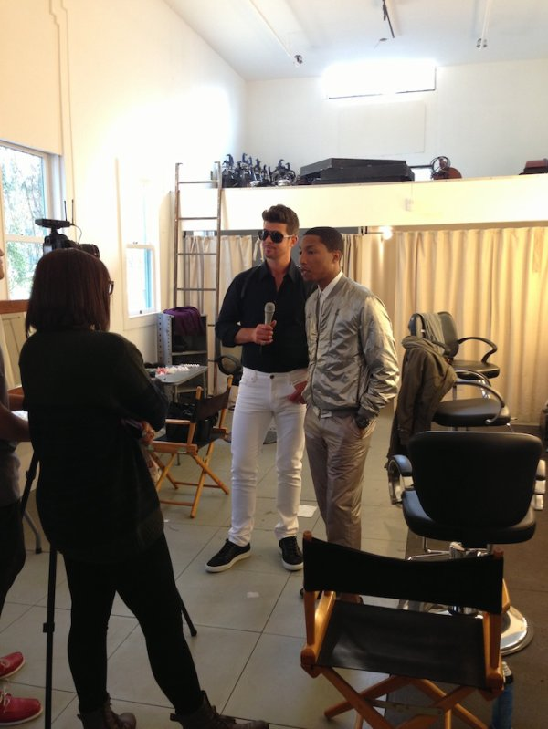Video shoot avec Robin Thicke - 19 février 2013