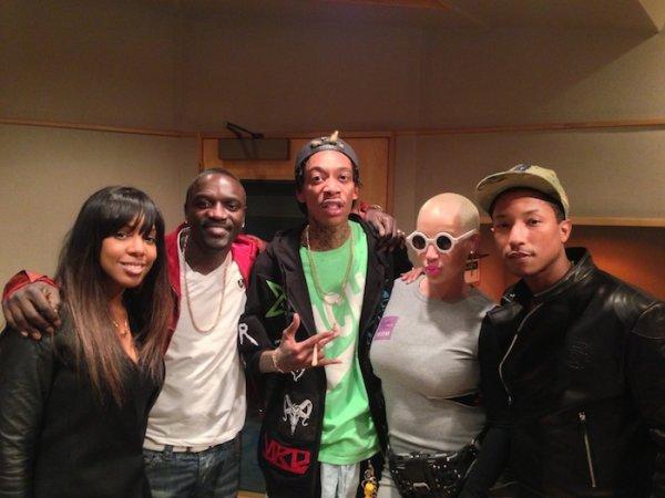 Pharrell en studio avec ... - Los Angeles - 22 mars 2013