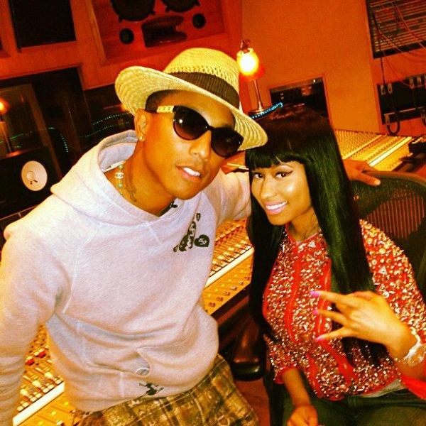 Pharrell en studio avec ... - 15 août 2013