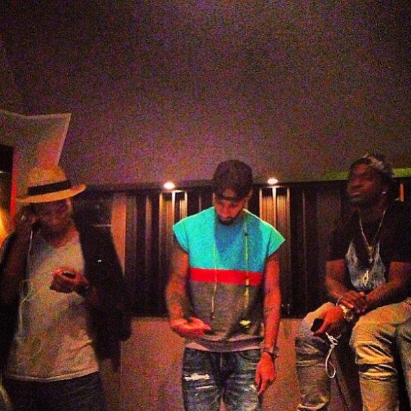 Pharrell en studio avec ... - 22 août 2013