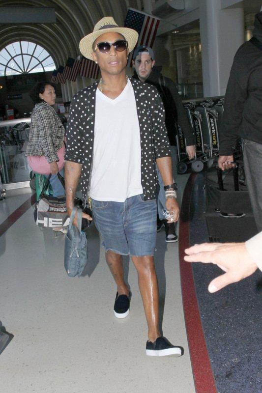 Pharrell - LAX Airport - 26 août 2013