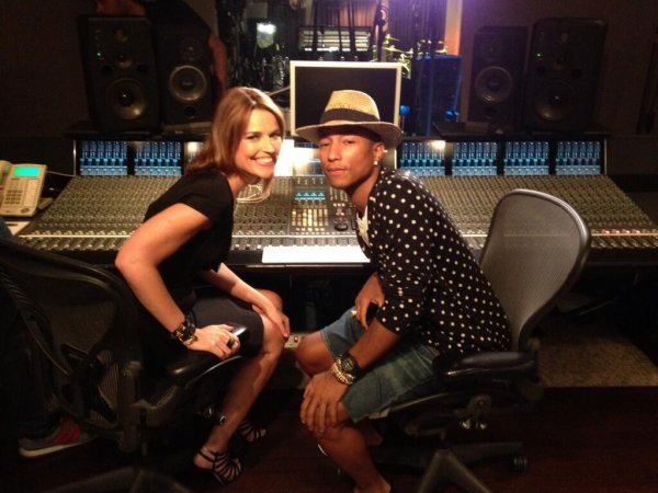 Pharrell - Enregistrement TODAY Show - 27 août 2013