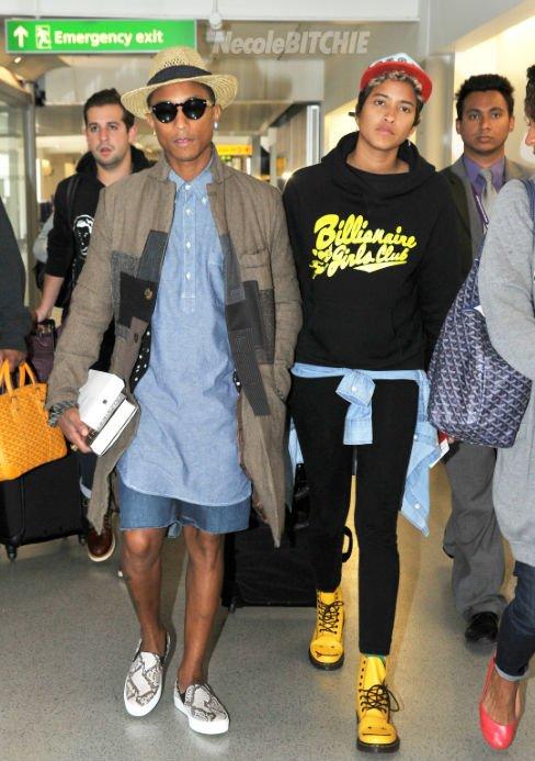 Pharrell & Helen - LAX Airport - 4 ou 5 septembre 2013