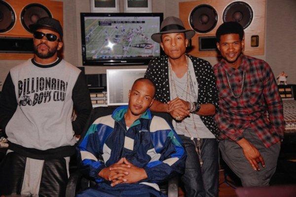 Pharrell en studio avec ... - Atlanta -  29 septembre 2013