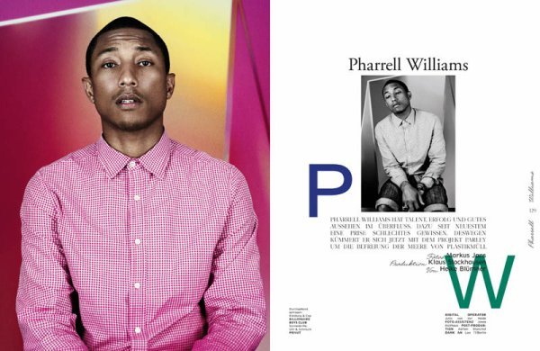 Pharrell - Interview Magazine Germany