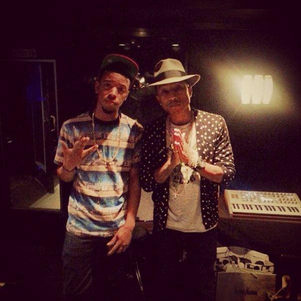 Pharrell en studio avec ... - Miami -  9 octobre 2013