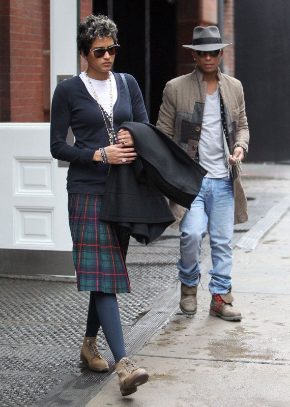 Pharrell & Helen - NYC - 2 novembre 2013