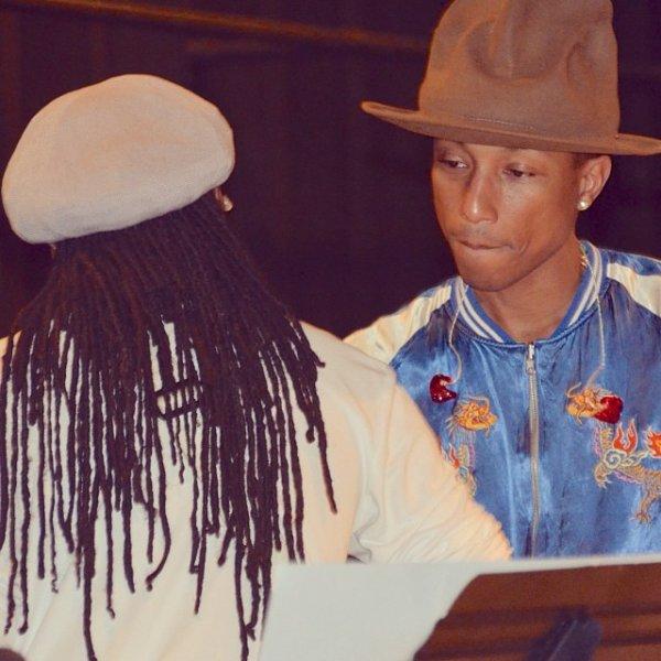 Pharrell - Répétition des Grammy Awards - Los Angeles - 24 janvier 2014