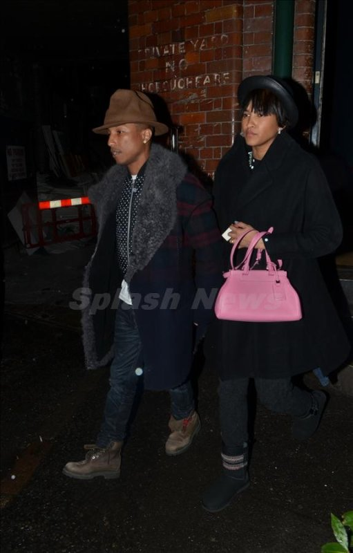 Pharrell & Ed Sheeran - Jamie Oliver Fifteen Restaurant - Londres - 4 février 2014