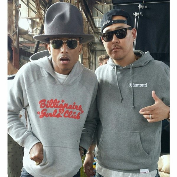 "Pharrell - Tournage de ""Move That Dope"" - 11 février 2014"