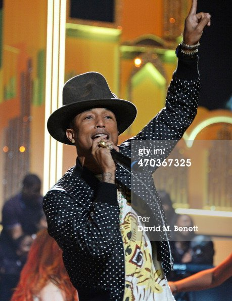 Pharrell - Répétitions des BRIT Awards - Londres - 19 février 2014
