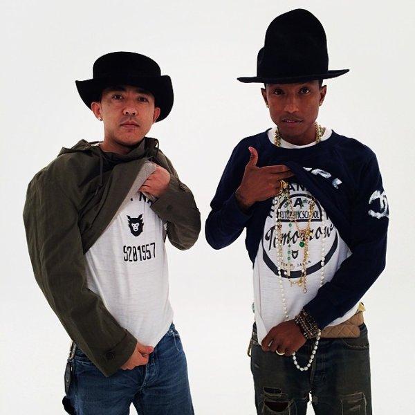 Pharrell & Nigo - Shooting - 27 avril 2014