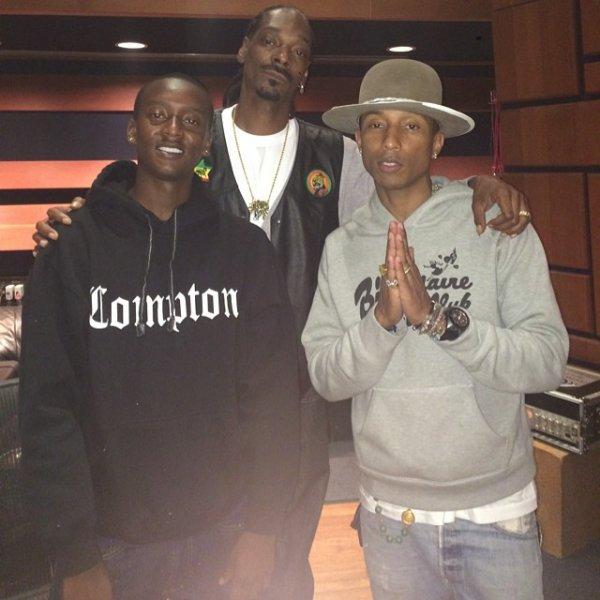 Pharrell en studio avec ... - 29 juin 2014