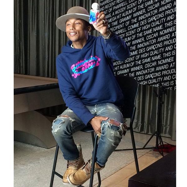 "Pharrell - présentation du parfum ""G  I  R  L"" - Las Vegas - 21 août 2014"