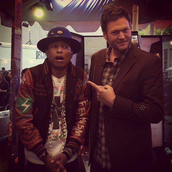 Pharrell -The Voice Live - Hollywood - 10 novembre 2014