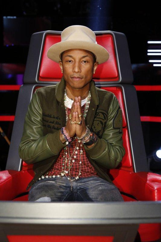 Pharrell -The Voice Live - Hollywood - 24 novembre 2014