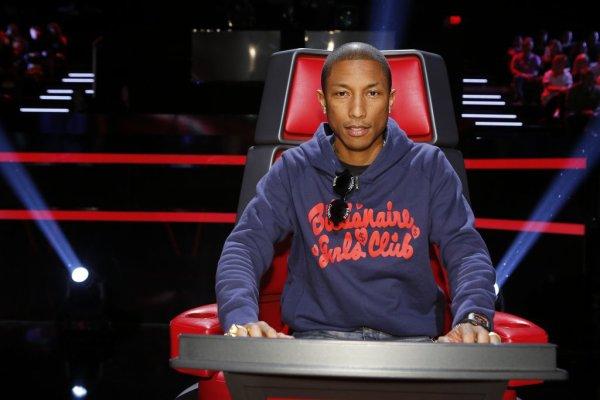 Pharrell -The Voice Live - Hollywood - 25 novembre 2014