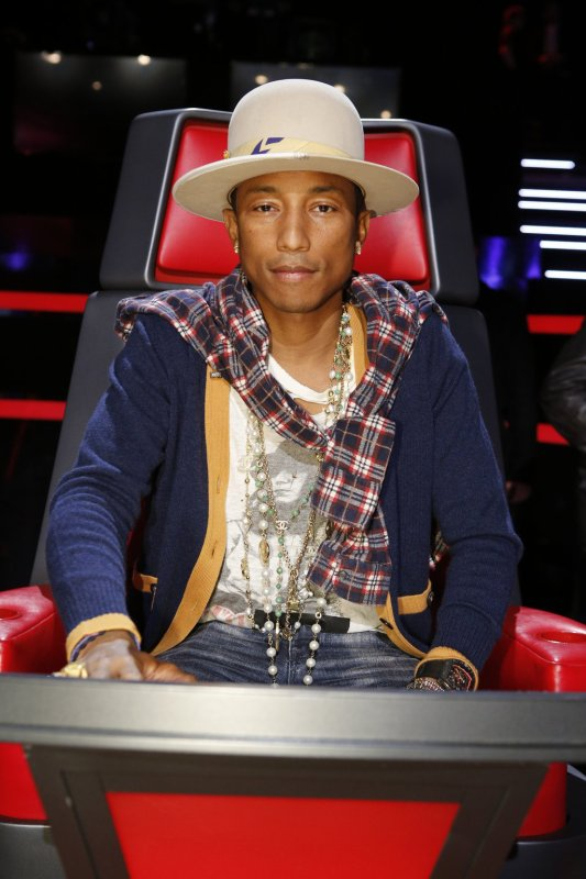 Pharrell -The Voice Live - Hollywood - 2 décembre 2014