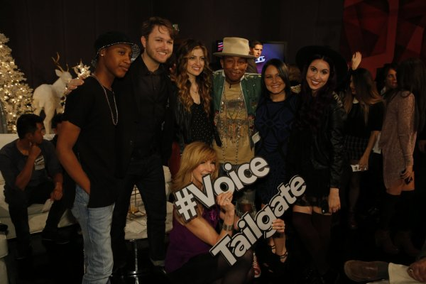 Pharrell -The Voice Live - Hollywood - 15 décembre 2014