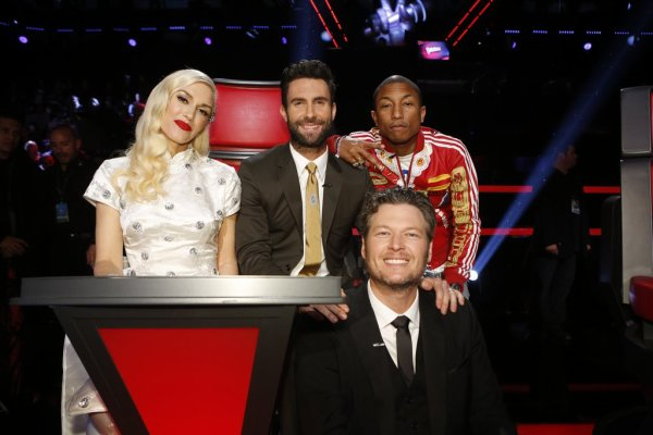 Pharrell -The Voice Live - Hollywood - 16 décembre 2014