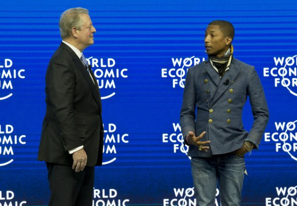 Pharrell - World Economic Forum - Davos, Suisse - 21 janvier 2015