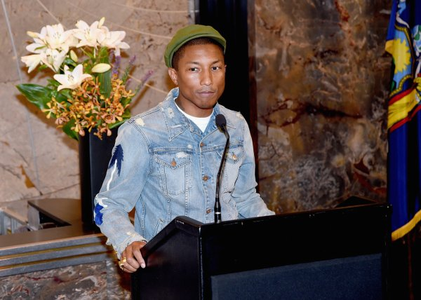 Pharrell - International Day Of Happiness - NYC - 20 mars 2015