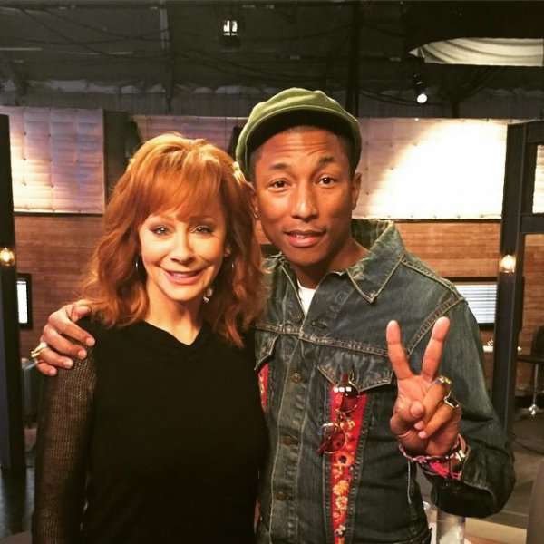 Pharrell - Enregistrement The Voice - Los Angeles - 9 avril 2015