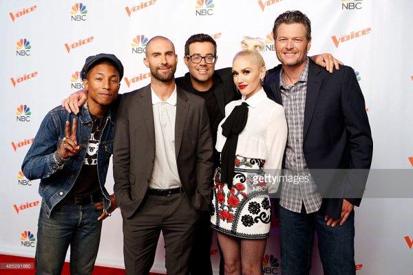 Pharrell - The Voice Saison 9 promo presse - 26 août 2015