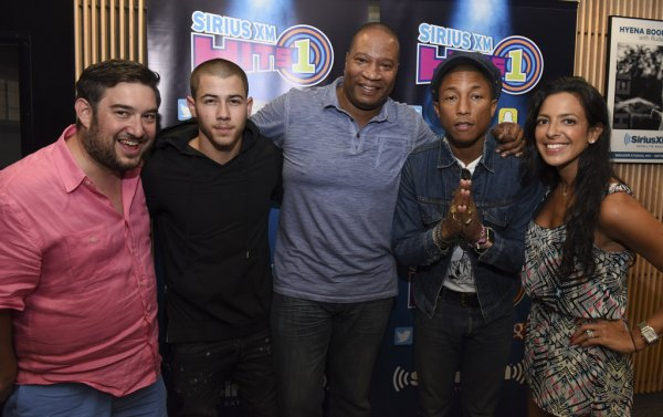 Pharrell - SiriusXM Hits 1's The Morning Mash Up Broadcast - Los Angeles - 28 août 2015