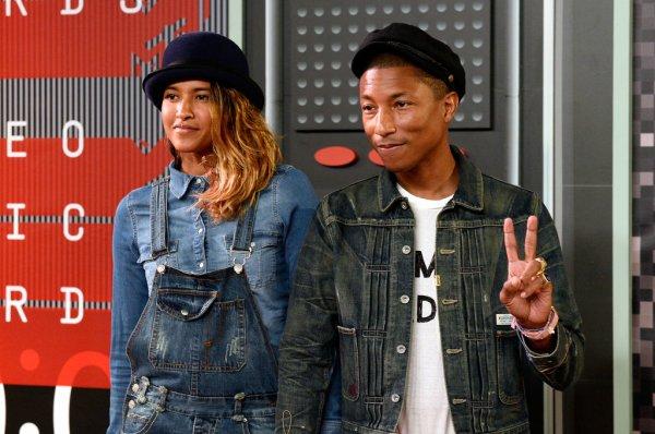 Pharrell & Helen - MTV Video Music Awards - Los Angeles - 30 août 2015