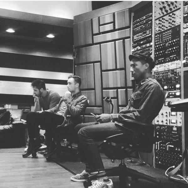 Pharrell en studio avec ... - 1er septembre 2015