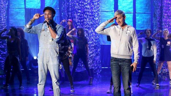Pharrell - The Ellen Show - Octobre 2015