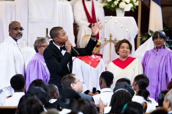Pharrell - Mother Emanuel AME Church - Charleston, SC - 1er novembre 2015