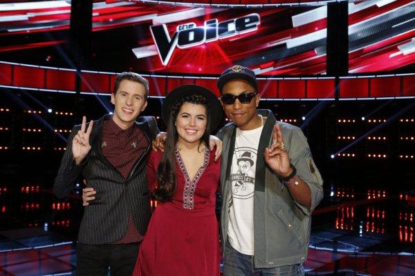Pharrell - The Voice Saison 9 Live - Los Angeles - 17 novembre 2015