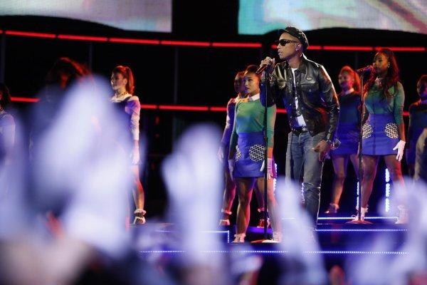 Pharrell - The Voice Saison 9 Live - Los Angeles - 23 novembre 2015