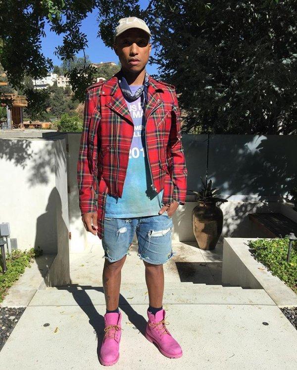 Pharrell en studio avec ... - 6 octobre 2016
