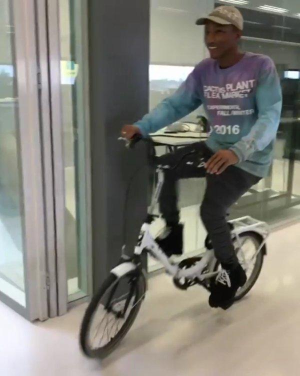 Pharrell - Bureaux G-Star RAW - Amsterdam, Pays-Bas - 20 octobre 2016